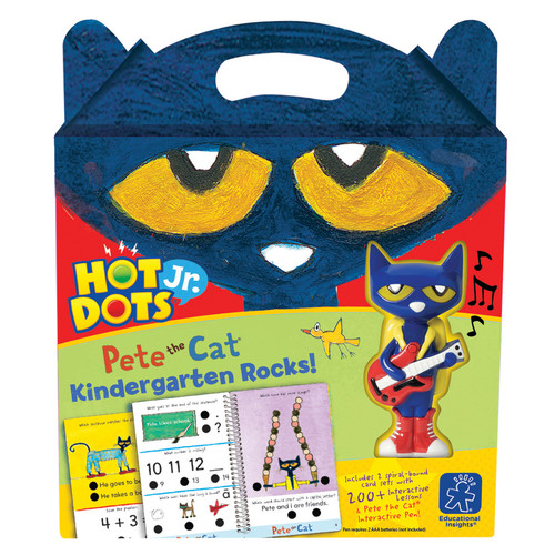 Educational Insights Hot Dots Jr Pete The Cat Kindergarten Rocks With Pen
