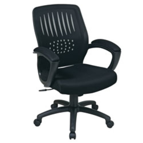 Office Star WorkSmart Screen-Back Chair With Mesh Seat, 42