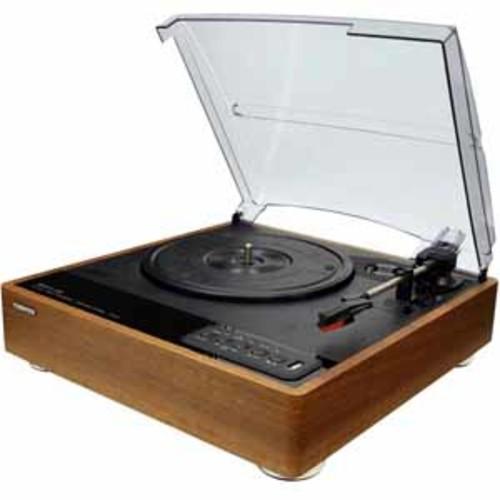 Toshiba Bluetooth Stereo Turntable - Brown/Black