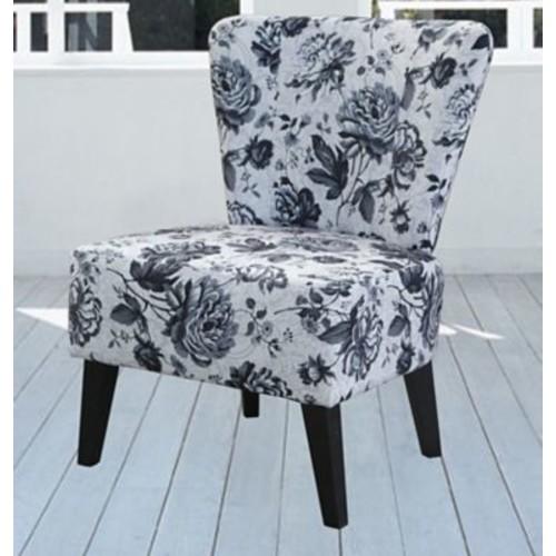 Charlton Home Briscoe Grey Flower Slipper Chair