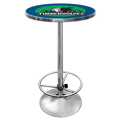 Trademark NBA Minnesota Timberwolves Chrome Pub/Bar Table