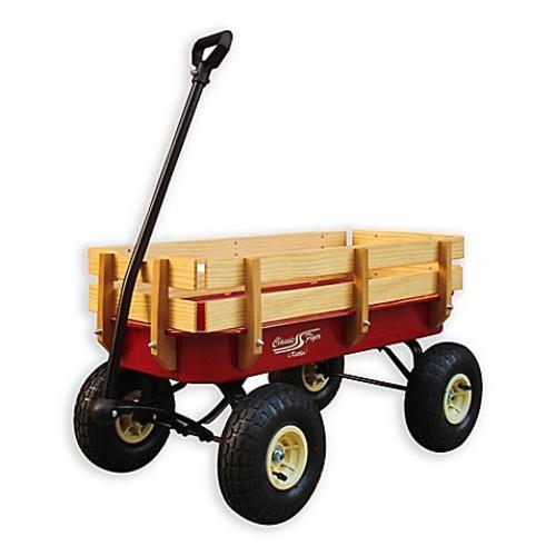 Kiddi-o Classic All-Terrain Air Tire Wagon in Red/Cream