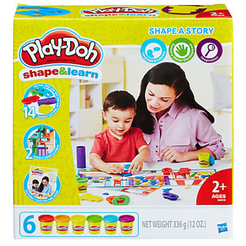 Play-Doh Education Shape And Learn Shape A Story Set, Assorted Colors, Case Of 3 Sets