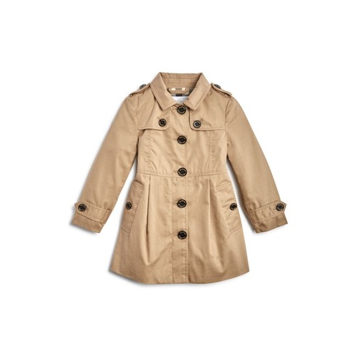 BURBERRY Girls' Sophia Trench Coat - Baby