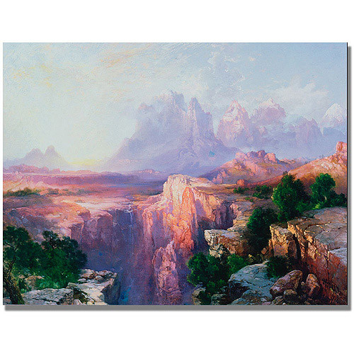 Rock Tower Of The Rio Virgin by Thomas Moran, 18x24-Inch Canvas Wall Art [18 by 24-Inch]