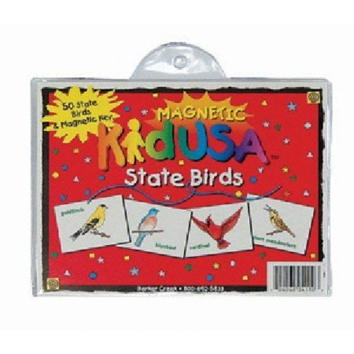 Barker Creek LM-4110 Learning Magnets KidUSA State Birds