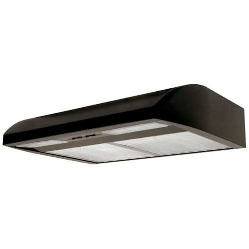 Air King EB30 220 CFM 30 Inch Wide Energy Star Certified Under Cabinet Range Hood with Dual 18 Watt Fluorescent Lights from the [option : Black]