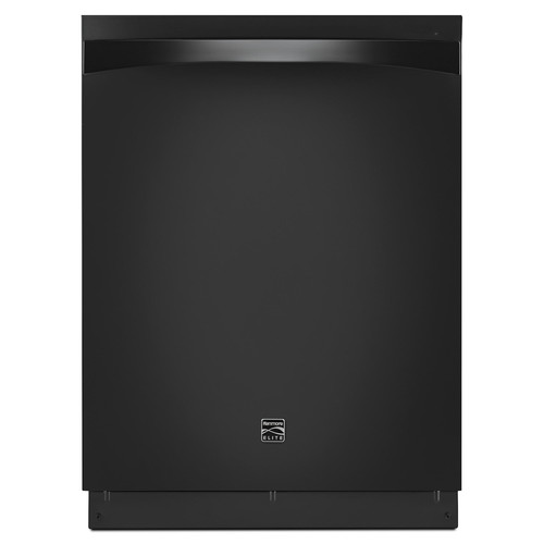 Kenmore Elite 14799 Dishwasher at 39 dBa with Turbo Zone Reach/360 Power Wash Spray Arm - Black Exterior with Stainless Steel Tub