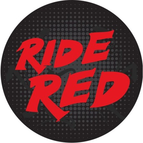 Trademark Global 30 in. Honda Ride Red Padded Swivel Bar Stool with Back