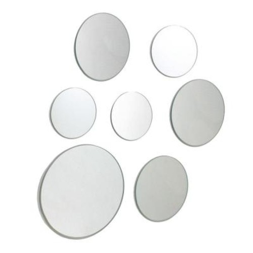 AZ Home and Gifts nexxt Zoe 9 in. x 9 in. Round Wall Mirror in 3 Assorted Sizes (Set of 7)