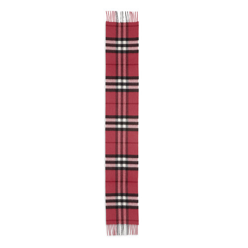 BURBERRY Kids' Exploded Check Cashmere Scarf, Fuchsia