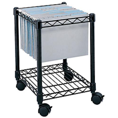 Safco Rolling Cart, Letter/Legal, Black