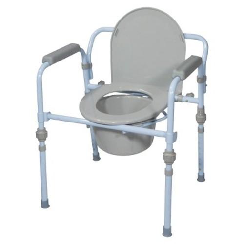 Drive Medical Blue Powder Folding Commode Seat - Standard