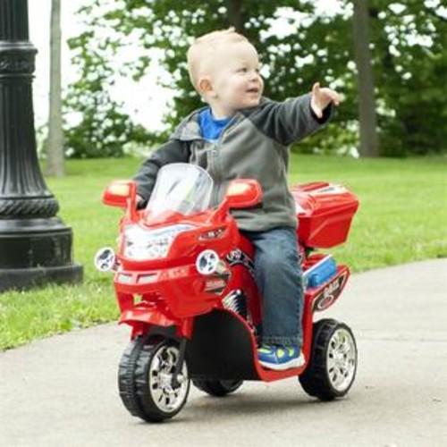 Lil' Rider 3-Wheel Battery Powered FX Sport Bike in Red