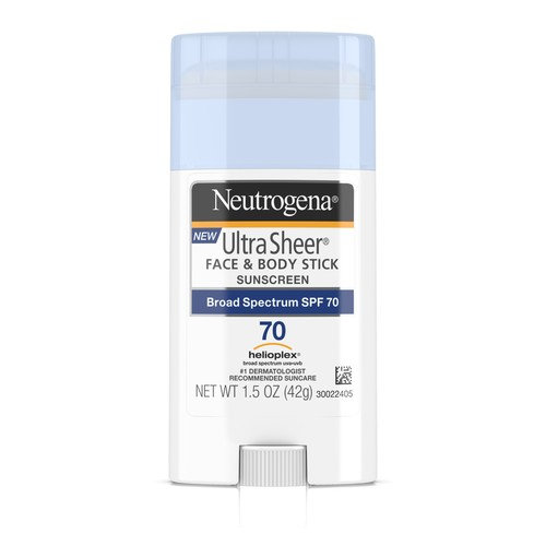 Neutrogena Ultra Sheer Face & Body Stick Sunscreen Broad Spectrum Spf 70, 1.5 Oz.