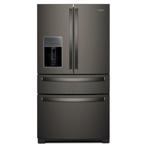 Whirlpool 36 in. 26 cu. ft. French Door Refrigerator in Fingerprint Resistant Black Stainless