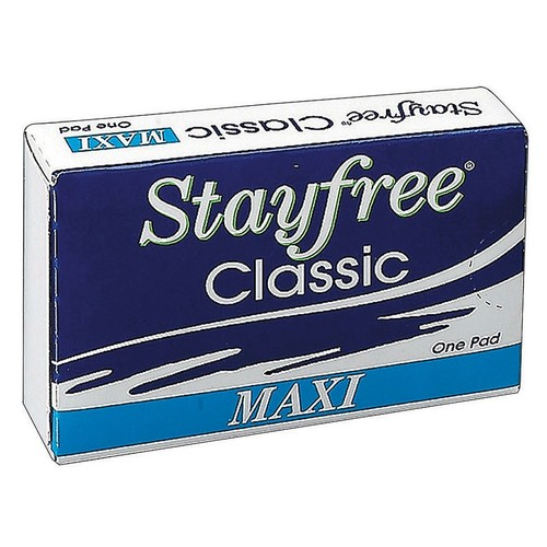 Stayfree Sanitary Napkins, Case Of 250 Boxes, 1 Pad Per Box