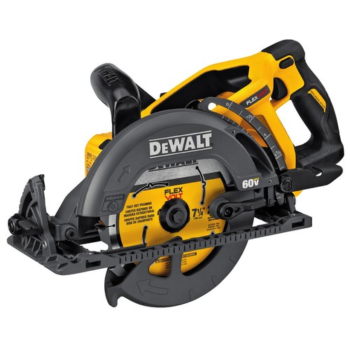 DEWALT FLEXVOLT 60-Volt MAX Lithium-Ion Cordless Brushless 7-1/4 in. Wormdrive Style Circular Saw (Tool-Only)
