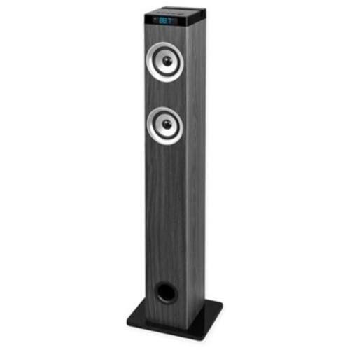 Innovative Technology Bluetooth Wireless Tower Speaker in Grey