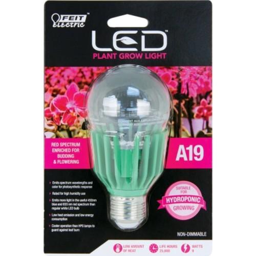 FEIT Electric LED Grow Light Bulb 9 watts A-Line A19 4.5 in. 1 pk(A19/GROW/LEDG2)