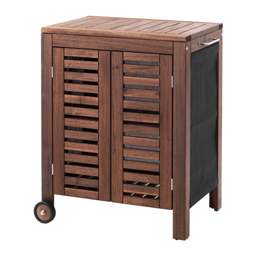 PPLAR / KLASEN Storage cabinet, outdoor, brown stained