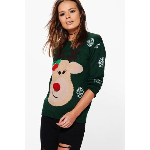 Maria 3D Christmas Rudolph Christmas Jumper