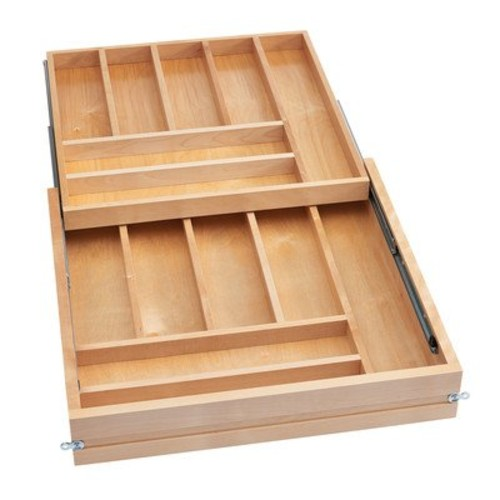 Rev-A-Shelf Frameless Tiered Cutlery Drawer System Organizers, Natural [Natural]