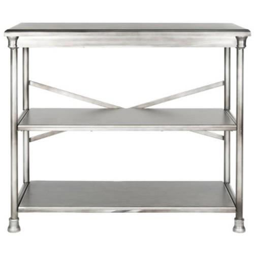 Jamison Med Bookcase - Silver - Safavieh