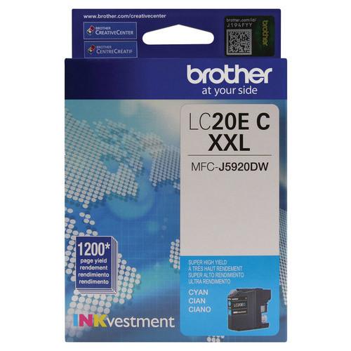 Brother - LC20EC XL High-Yield Ink Cartridge - Cyan