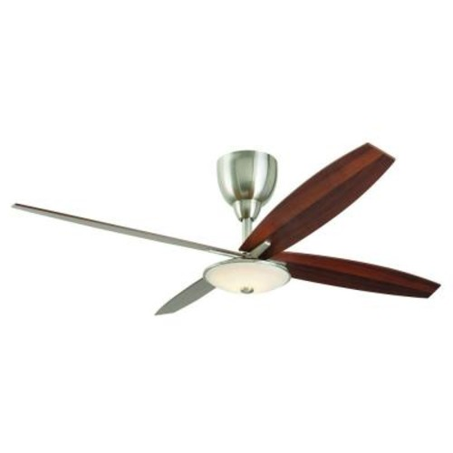 Home Decorators Collection Bailey 56 in. LED Indoor Brushed Nickel Ceiling Fan with Light Kit and Remote Control