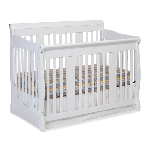 Stork Craft Tuscany 4-in-1 Fixed Side Convertible Crib - White