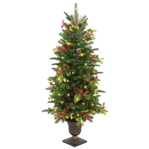 National Tree Company 4 ft. Decorative Collection Berry Leaf Entrance Artificial Christmas Tree