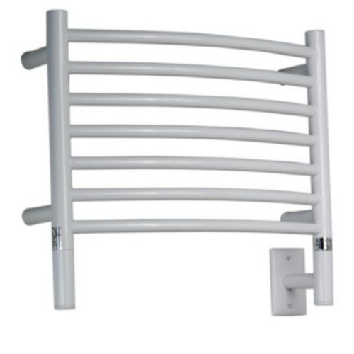 Amba Jeeves Wall Mount Electric H Curved Towel Warmer; White