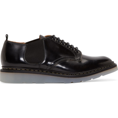 Black Leather Officer Heschung Edition Derby Shoes