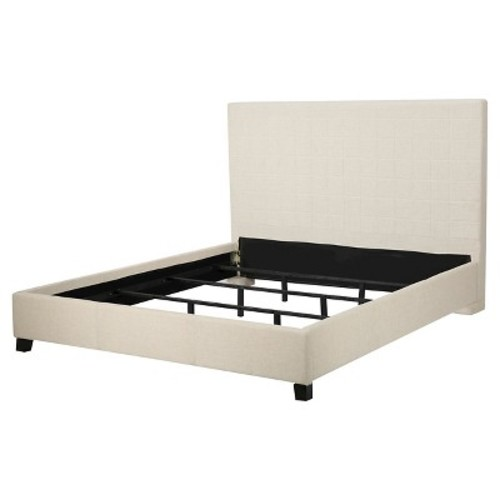 Ellington Queen Upholstered Bed - Beige - Christopher Knight Home