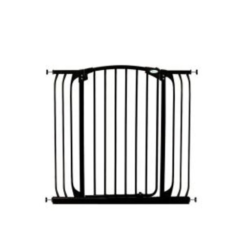 Dreambaby Chelsea 40 in. H. Extra Tall and Extra Wide Auto-Close Security Gate in Black