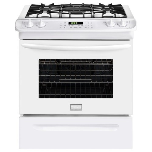 Frigidaire Gallery 30 in. 4.6 cu. ft. Slide-In Gas Range with Self-Cleaning Convection Oven in White