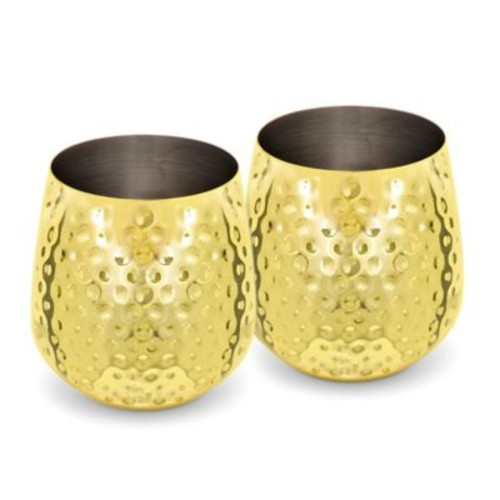 Stemless Goblet in Gold (Set of 2)