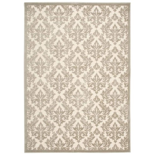 Nourison Overstock Ultima Ivory/Silver 2 ft. x 4 ft. Area Rug