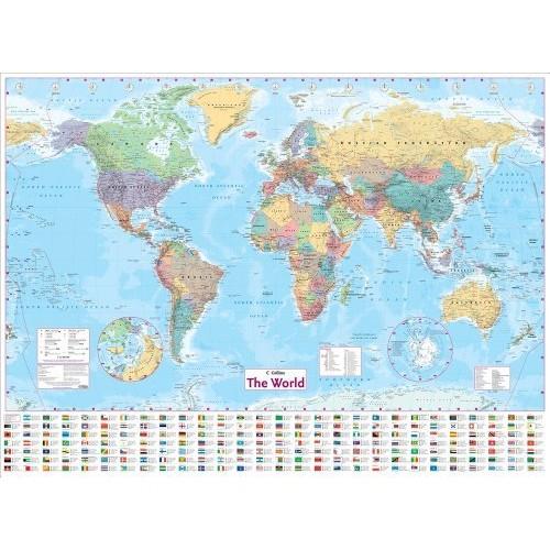 World Wall Laminated Map