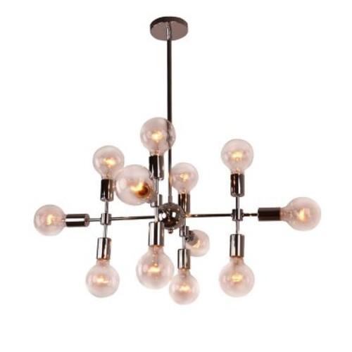Unitary Modern Metal Geometric 12-Light Sputnik Chandelier