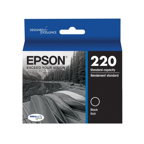Epson DuraBrite Ultra Ink Cartridge, Black, T220120-S
