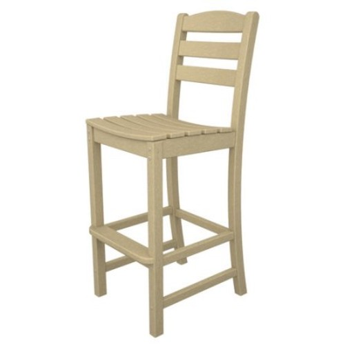 POLYWOOD La Casa Cafe Recycled Plastic Bar Height Side Chair
