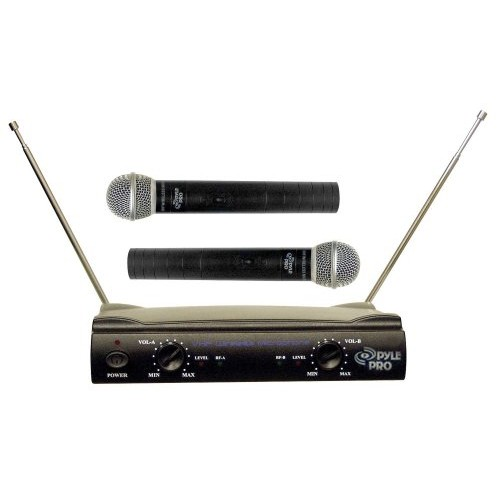 PylePro PDWM2500 Dual VHF Wireless Microphone System