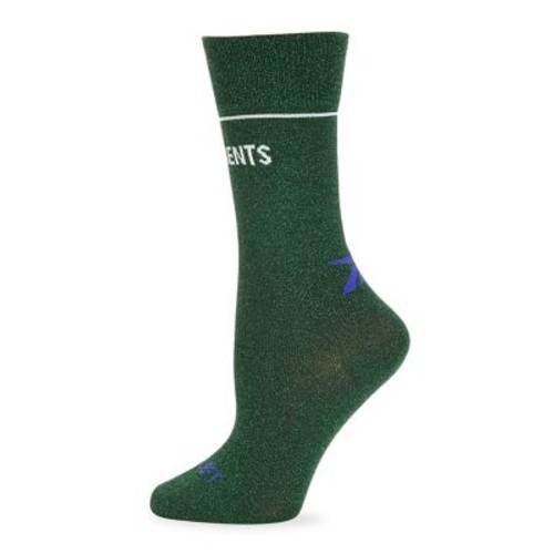 Lurex Logo Socks
