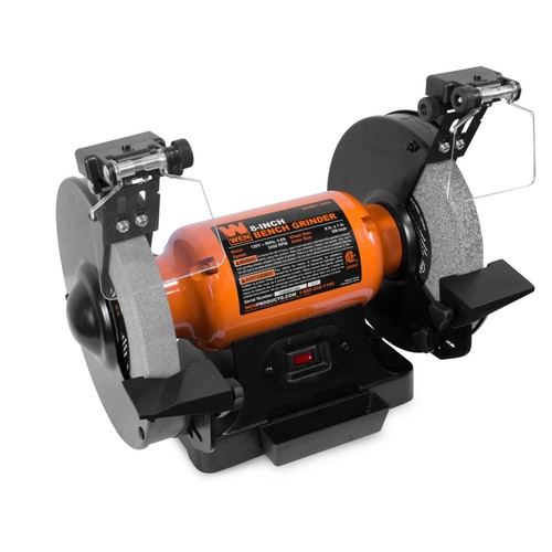 WEN 4.8 Amp 8 in. Bench Grinder with LED Work Lights and Quenching Tray