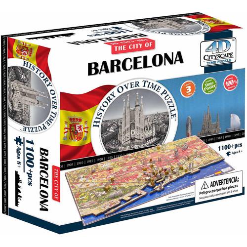 4D Cityscape Time Puzzle, Barcelona, Spain