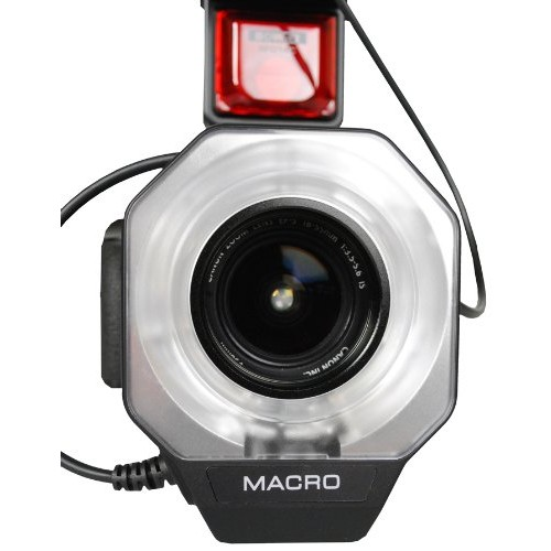 Bower SFD14S Digital Macro Ring Flash for Sony A100/200/230/290/300/330/350/380/390/450/500/560/550/700/850/900 Digital SLR Cameras