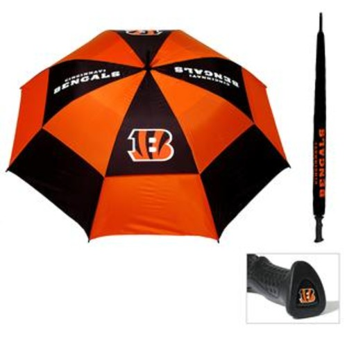 Team Golf Cincinnati Bengals 62-inch Double Canopy Golf Umbrella
