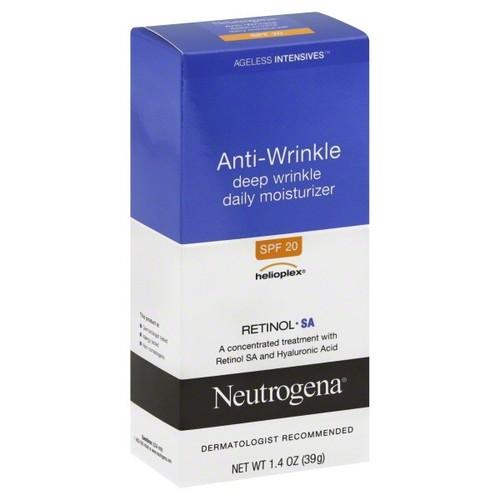 Neutrogena Moisturizer, Daily, Deep Wrinkle, Anti-Wrinkle, SPF 20, 1.4 oz (39 g)